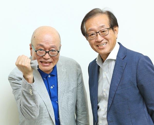 立川談四楼さん(左)と二木啓孝氏(C)日刊ゲンダイ