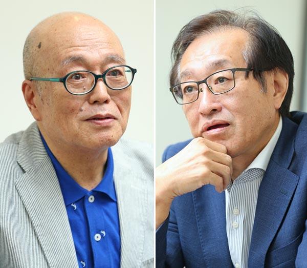 立川談四楼さんと二木啓孝さん(C)日刊ゲンダイ
