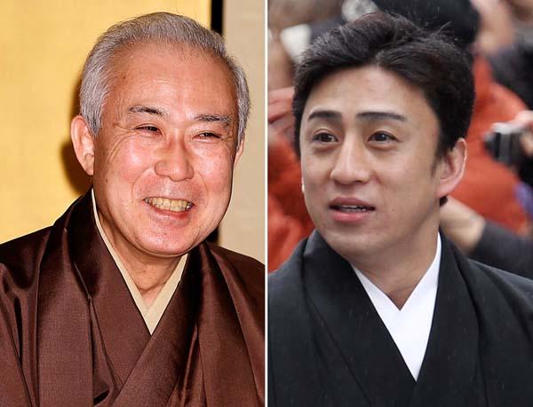 中村吉右衛門(左)と甥の市川染五郎(C)日刊ゲンダイ