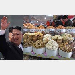 北朝鮮との国境の町・丹東の市場(日本にも輸出される乾物)/(提供写真)