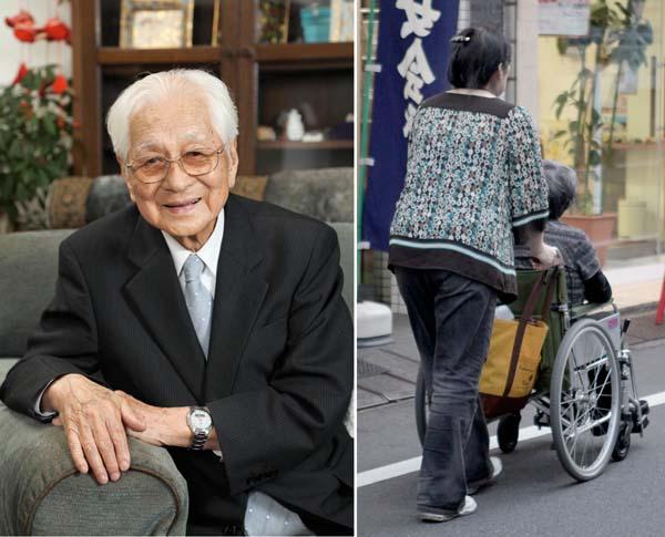 101歳まで現役サラリーマンだった福井福太郎さん(左)/(C)日刊ゲンダイ