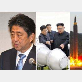 北朝鮮危機を政治利用(C)共同通信社