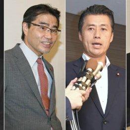 左から野田数氏、若狭勝氏、細野豪志氏、長島昭久氏