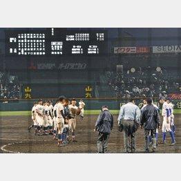 今春はこの健大高崎―福井工大福井戦を含む2試合が延長15回引き分け再試合/(C)共同通信社