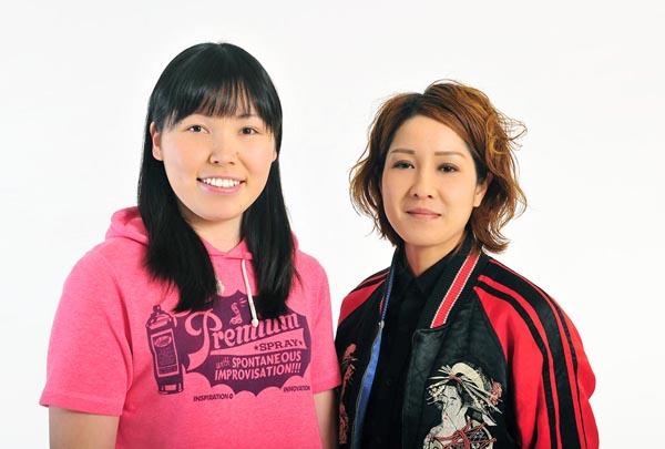 尼崎インターの狩野誠子(左)と鹿島渚/(C)日刊ゲンダイ