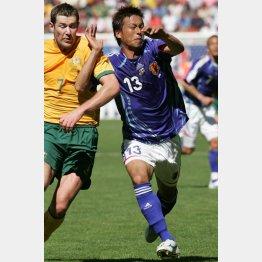 06年ドイツW杯オーストラリア戦でプレーする柳沢(C)JMPA