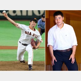 メジャーから高く評価される菅野(左)「夢はメジャーでの活躍」と早実の清宮(C)日刊ゲンダイ