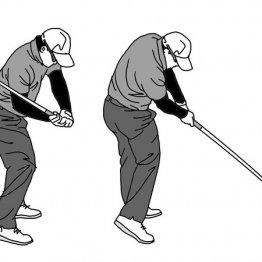 ダウンスイングで右腕とシャフトが重なるとインパクトの再現性が悪くなる