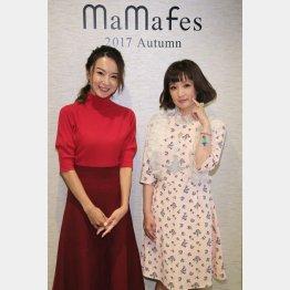 イベントに登場した鈴木亜美(左)と千秋/(C)日刊ゲンダイ
