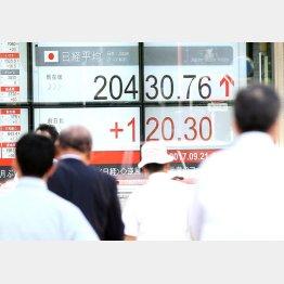 株価は不安定な動きに(C)日刊ゲンダイ