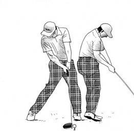 インパクトで右腕は曲がってもいい でも右肘は体につける