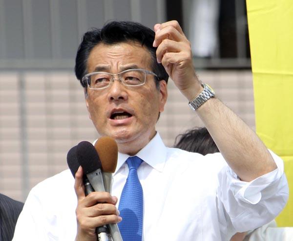 3区の岡田克也元外相(C)日刊ゲンダイ