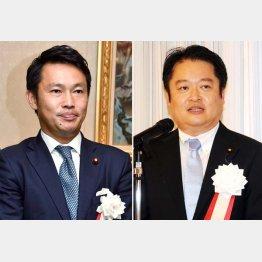 1区の中谷真一氏(左)と2区の長崎幸太郎氏/(C)日刊ゲンダイ
