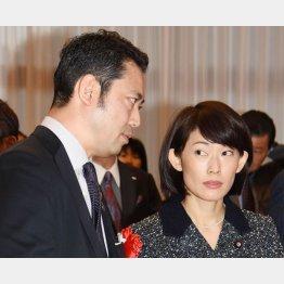 9区の大塚拓氏(右は夫人の丸川珠代前五輪担当相)(C)日刊ゲンダイ