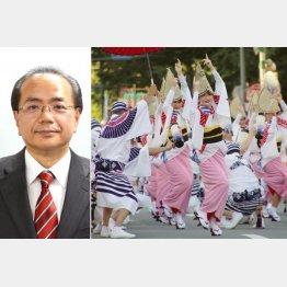 告訴された遠藤彰良徳島市長(左)/(C)日刊ゲンダイ