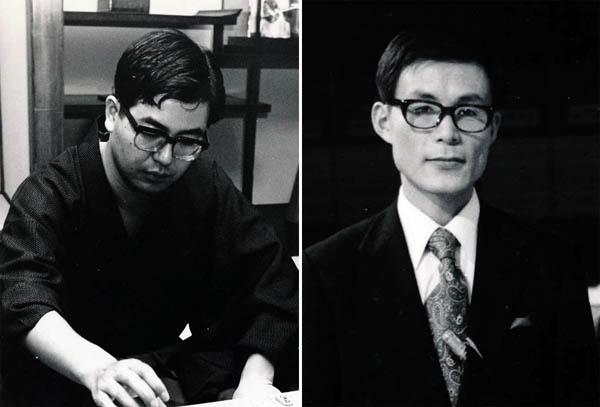 中原誠十六世名人(左)と米長邦雄永世棋聖/(提供写真)