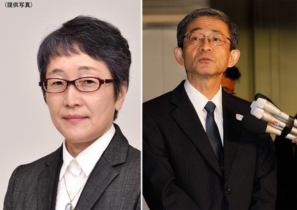猪熊純子氏(左)と更迭された中西副知事/(C)日刊ゲンダイ