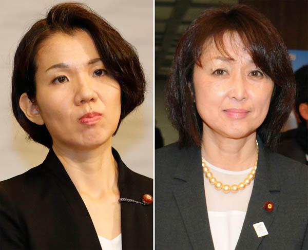 豊田真由子氏(左)と中川郁子氏(C)日刊ゲンダイ