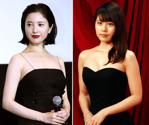 吉高由里子(左)と有村架純(C)日刊ゲンダイ