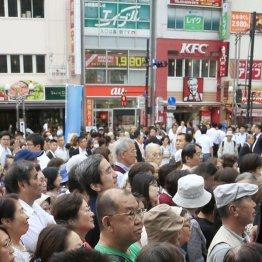 東京・JR赤羽駅前で演説を聞く聴衆(C)日刊ゲンダイ