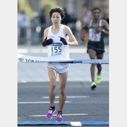 設楽の初マラソンは2月の東京で2時間9分27秒だった(C)共同通信社