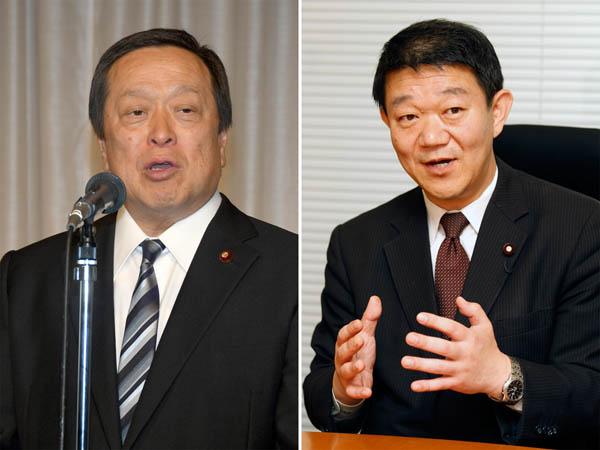 12区の浜田靖一氏(左)と樋高剛氏/(C)日刊ゲンダイ