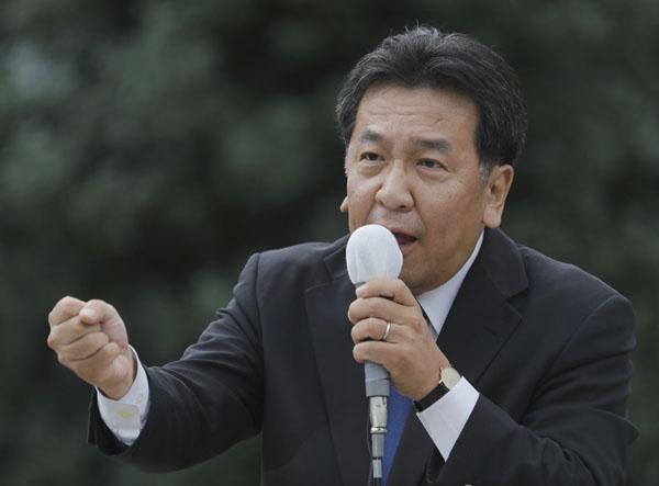 仙台で第一声となる街頭演説を行った(C)日刊ゲンダイ
