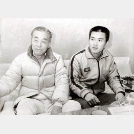 瀬古の監督だった中村さん(左)に呼ばれて…(C)日刊ゲンダイ