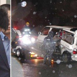 石渡和歩容疑者と移動される事故車両