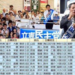 前回は比例復活も叶わなかった海江田元民進党顧問(右上)や新人候補も善戦
