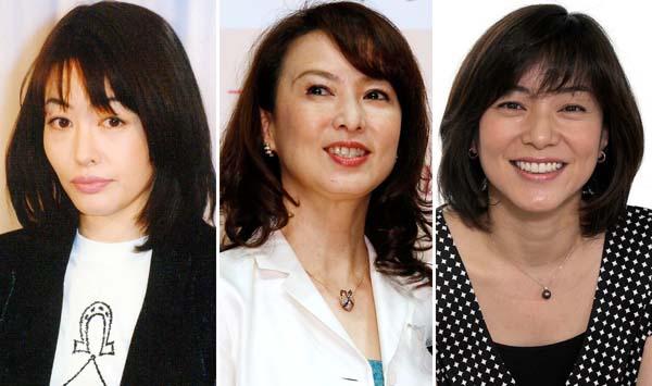 左から有賀さつき、花田景子、八木亜希子(C)日刊ゲンダイ