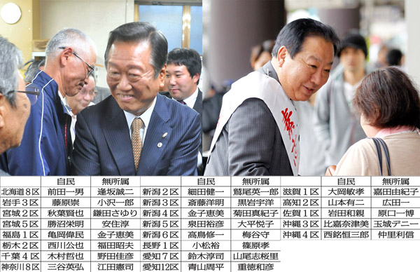 小沢一郎氏と野田元首相(右)/(C)日刊ゲンダイ