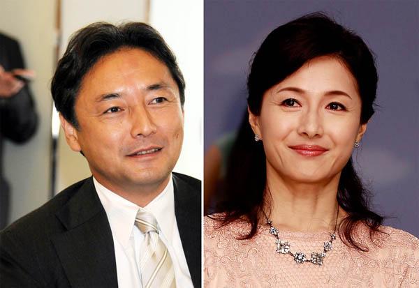 1区の後藤田正純氏と女優の水野真紀夫妻(C)日刊ゲンダイ