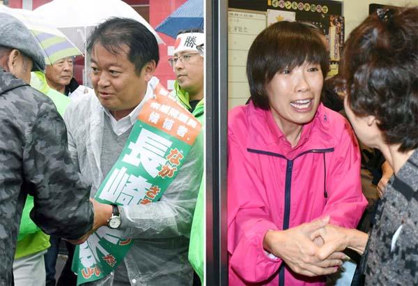 長崎候補と堀内候補の対決は「二階」VS「県連」の争いに/(C)日刊ゲンダイ