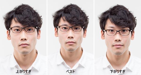 眼鏡のかけかた1つでこの違い/「あなたの眼鏡はここが間違っている」(講談社)から転載(撮影=井上孝明)