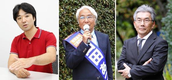 左から順に黒川敦彦氏、山田厚史氏、天木直人氏(C)日刊ゲンダイ