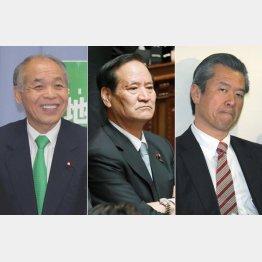 左から鈴木宗男、西川公也、馬淵澄夫の各氏(C)日刊ゲンダイ