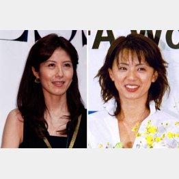 小島慶子アナ(左)と進藤晶子アナ/(C)日刊ゲンダイ
