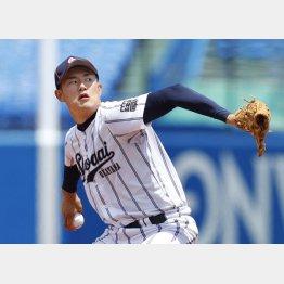 6月の大学選手権では日米14球団が視察(C)共同通信社