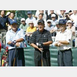 尾崎181センチ、青木と中嶋は180センチ(左から)(C)日刊ゲンダイ