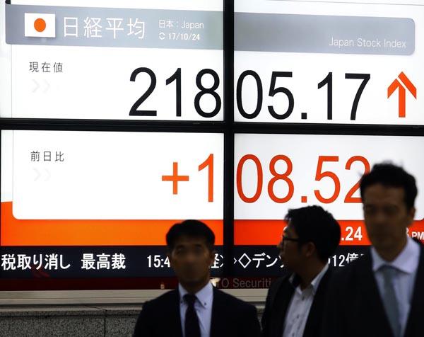 日経平均株価は16営業日続伸の歴代最長を更新(C)日刊ゲンダイ