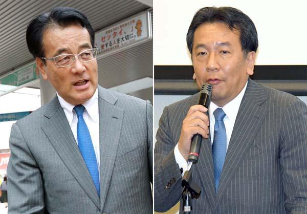 岡田代表(左)たちが「接着剤」に?/(C)日刊ゲンダイ