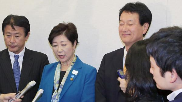 希望の党・大島幹事長(右)が失言?/(C)日刊ゲンダイ