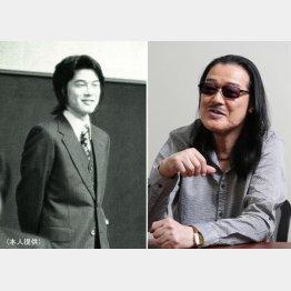 因幡晃さん(左は花岡鉱山時代)/(提供写真)