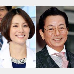 「ドクターX」米倉涼子と「相棒」水谷豊/(C)日刊ゲンダイ