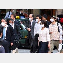 マスクで感染予防(C)日刊ゲンダイ