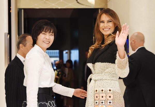 昭恵夫人もシレッと表舞台に復帰(代表撮影・JMPA)