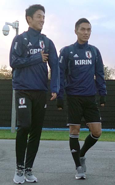 久保(右)と森岡(左)仲良しベルギー組(C)Norio Rokukawa/Office La Strada