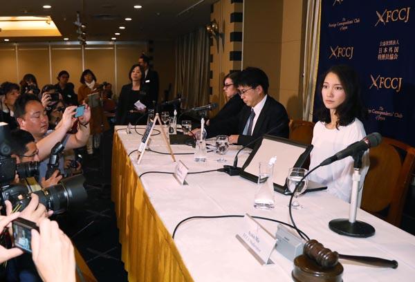 外国特派員協会の会見には100人超が詰めかけた(C)日刊ゲンダイ