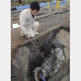 イノシシの骨が見つかった纒向遺跡(C)共同通信社
